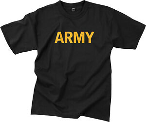 Black Army Workout PT T-Shirt Physical Training APFU Gym Tactical Military Tee