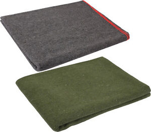 Wool Emergency Survival Blanket Rescue Large Cover Throw Bed Camping 60quot; x 80quot; $20.99