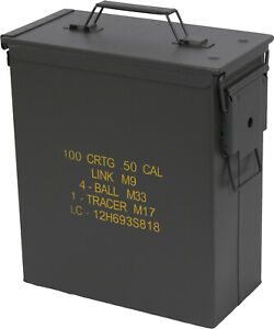 .50 Caliber Tall Waterproof Ammo Can Olive Drab Military