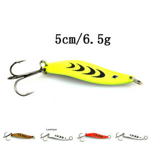 5Cm6.5G Spoon Lure Bait For Trout Bass Small Hard Sequins Spinner Spoon KW