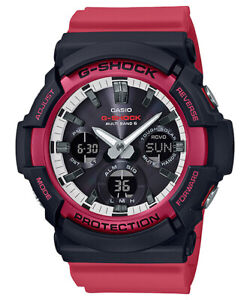 Casio G-Shock Black Red Elegantly Casual Design Men's Watch GAS-100RB-1A