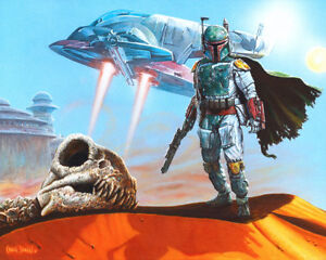 ACME ARCHIVES STAR WARS GICLEE CANVAS BOBA FETT quot;FETT COLLECTSquot; BY CRAIG SKAGGS $249.99