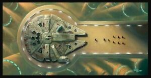 ACME ARCHIVES STAR WARS GICLEE ON CANVAS BY ROB KAZ quot;OLD FRIENDSquot; HAN SOLO LANDO $249.99