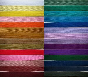 5 Yards Fold Over Bias Braid 1 2quot; Soft Polyester 28 Colors $5.00