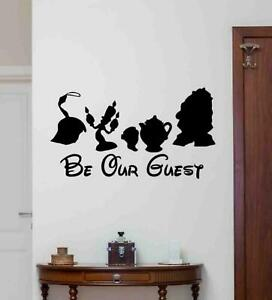 Be Our Guest Wall Decal Disney Vinyl Sticker Beauty and the Beast Poster 1071