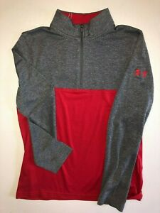 Under Armour New Boys Scratch 14 Zip Mock Golf Shirt Youth Boys Size Med 7187