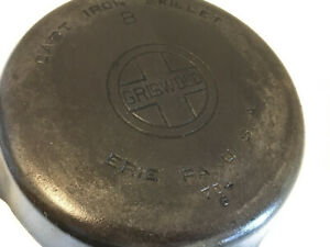 Griswold # 8 No. 8 Cast Iron Skillet Large Block