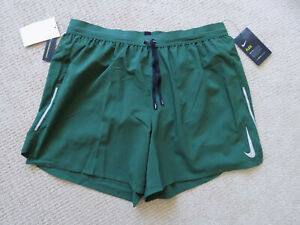 NEW NIKE MENS XL FLEX STRIDE RUNNING SHORTS 5 inch 2 in 1 GREEN AJ7777 323