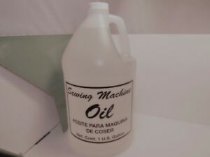 1 GALLON CLEAR WHITE INDUSTRIAL amp; HOME SEWING MACHINE OIL $37.95