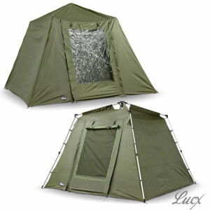 Lucx Fishing Tent + Cover Bivvy + Overwrap 2 Mann Carp Tent Camping
