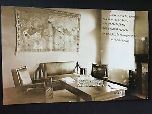 Norwegian Lutheran Deaconess Home and Hospital Chicago Writing Room RPPC