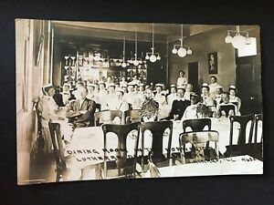 Norwegian Lutheran Deaconess Home and Hospital Chicago Dining Room RPPC