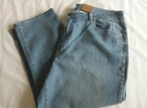 Womens Coldwater Creek Cropped Leg Blue Jeans Plus Size 20 Classic Fit