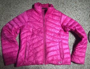 Womens Under Armour DOWN Puffer Pink STORM COLDGEAR INFRARED PRIMALOFT SZ L $63.96