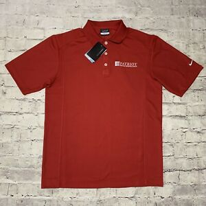 NIKE Golf Dri-Fit Mens Size Small Red Polo wCustom Employer Embroidery NWT