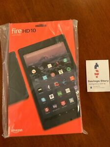 Amazon Fire HD 10 Tablet hands free Alexa 32GB 7th Gen 2017 Black with offers