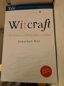 2019 ARC Witcraft: The Invention of Philosophy in English by Jonathan Rée  Aug