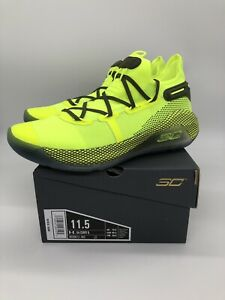NEW Mens 11.5 Under Armour Curry 6 Coy Fish Yellow Basketball Shoes 3020612-302