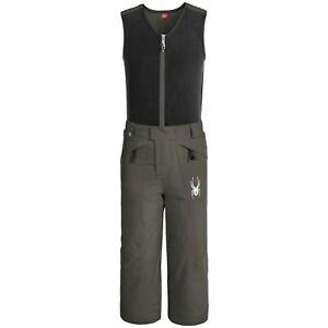 New Little Boy`s Spyder Mini Expedition Snow Bibs Pant WP Insulated