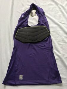 NEW Nike Pro Combat Hyperstrong Dri-Fit Basketball Compression Top Purple XLT