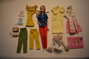 TWELVE Pcs of BARBIE Clothes and accessories -1961 and forward - Used VG - V VG+