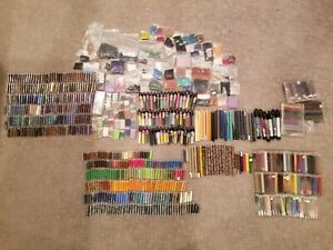 Huge Lot of Seed Beads 650+ Packages Tubes Amazing Deal Over 20lbs.