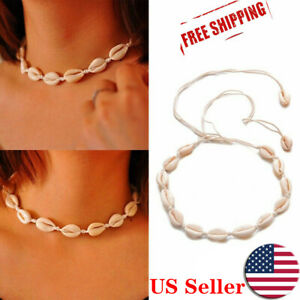 Fashion Natural Boho Sea Shell Cowrie Beach Choker Women Necklace Jewelry Gift