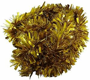 8pcs GOLD Luxury Deluxe Chunky Christmas Tinsel Garland Tree Decoration Home