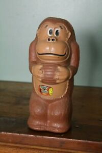 1981 Nintendo Donkey Kong Plastic Blow Mold Piggy Coin Bank Vintage Toy 10 1/2
