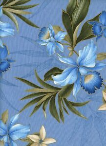 Tropical Flowers 1 Fat Quarter cotton fabric quilt quilting floral crafts sewing