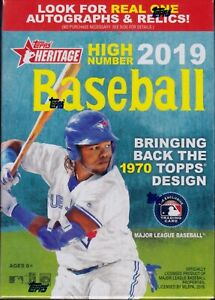 2019 Topps Heritage High Number Baseball sealed blaster box 7 packs 9 MLB cards