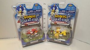 Sonic and Sega All-Stars Racing Tails and Knuckles Diecast Nkok lot of 2