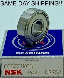 NSK JAPAN 608ZZ C3 Deep Groove Ball Bearings 8x22x7mm SAME DAY SHIPPING