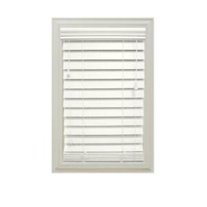 Home Decorators Collection White 2.5quot; Premium Faux Wood Blind with Cord
