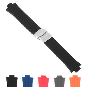 Strapsco Silicone Rubber Watch Band Strap for Oris TT1 & Williams F1