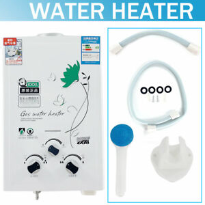 6L 12KW Tankless Gas House Instant Hot Water Heater Home Bathroom 0.02-0.8MPa