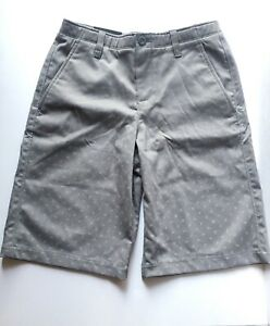 NWT Under Armour Shorts Youth Boys Size 12 Gray Heat Gear MSRP $49.99 $19.97