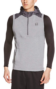 Under Armour Microthread Terry Sleeveless Hoodie Men's Size XL Grey  MSRP $70.00