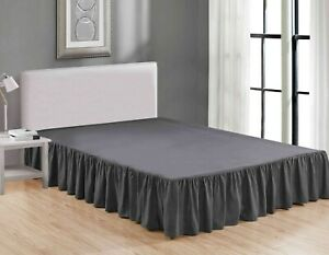 Super Soft Solid Brushed Microfiber 14 Gathered Bed Skirt Dust Ruffle $15.99