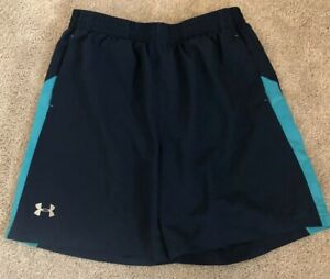 Under Armour Running Shorts Blue Inner Mesh Liners EUC Men's Size Large