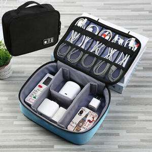 Travel Cable Bag Usb Gadget Organizer Charger Wires Cosmetic Storage Pouch Case C $18.89