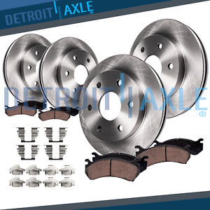 Front Rear Rotors Ceramic Brake Pads Chevy Trailblazer Envoy V 6 Brakes Kit $159.09