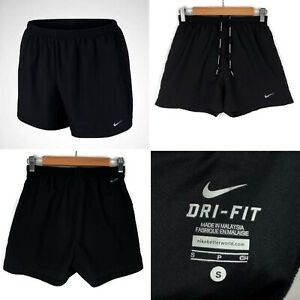 NIKE 4 Woven Running Shorts Size Small In Black Mens Fitness Dri-Fit