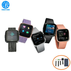 Fitbit Versa Wearable Smartwatch Special Edition Charcoal Lavender
