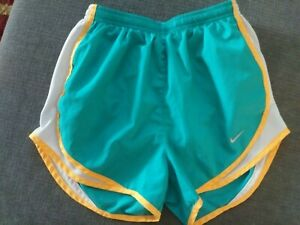 Women's Nike Dri-Fit Lined Shorts Running Athletic Extra Small Green