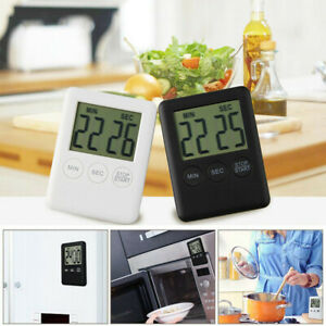 Kitchen Digital Timer Reminder Alarm LCD Cooking Clock Large Count-Down Up Loud