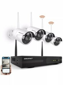 Smonet 4CH 720P HD NVR Wireless Security CCTV Surveillance Systems(WIFI NVR Kits