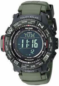 Casio Men'S Pro Trek Stainless Steel Quartz Watch With Resin Strap Black 20.2
