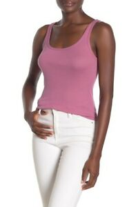 E010 NWT VINCE RIBBED FAVORITE WOMEN TANK TOP SIZE XS, S, M, L in MAUVE $48
