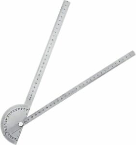 30CM Stainless Steel 180 degree Protractor Angle Finder Arm Rotary Measuring $11.69
